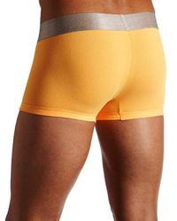 Calvin Klein Orange Steel Micro Low Rise Trunks for men