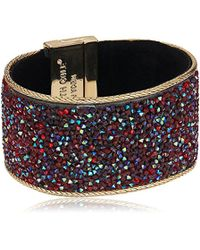 "Kenneth Cole - ""red Items Gold Statement With Red Sprinkle Stone Bracelet - Lyst"