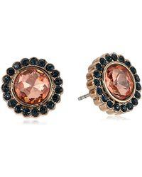 Fossil Metallic S Large Glitz Stud Earrings