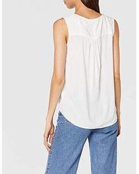 Tom Tailor White Für Frauen Blusen, Shirts & Hemden Ärmellose Bluse
