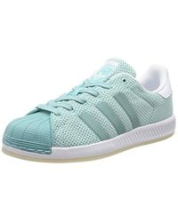 Superstar Bounce W, Sneakers Basses Adidas en coloris Blue