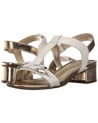Anne Klein Multicolor Entity Leather Heeled Sandal