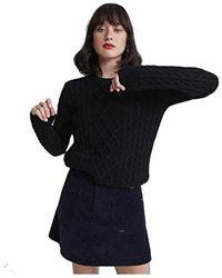Amelia Premium Cable Knit Chandail Black S Superdry
