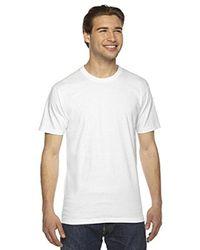 American Apparel White 2001 - Unisex Fine Jersey Short-sleeve T-shirt for men