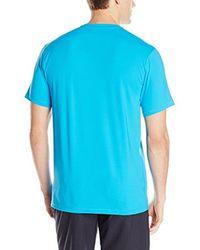 Quiksilver - Blue Solid Streak Short Sleeve Rashguard Swim Shirt for Men - Lyst