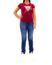 SS Vn Icon tee Camiseta para Mujer Guess de color Red