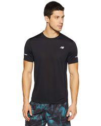 Core SS Running T-Shirt di New Balance in Black da Uomo