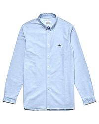 Chemise habillée Homme Lacoste pour homme en coloris Blue