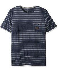 Quiksilver Blue Zermet Short Sleeve for men