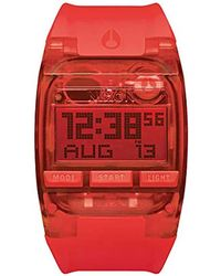 Nixon A408191 Comp Digital Display Automatic Self Wind Red Watch for men