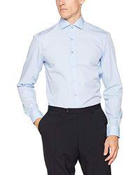 01849772 Calvin Klein. Men's Blue Rome Fitted Fec Business Shirt. See more Calvin  Klein Formal shirts.