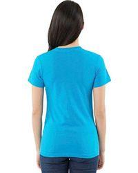 American Apparel Blue Unisex Fine Jersey Short-sleeve T-shirt for men