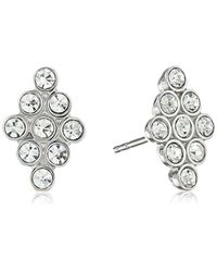 Fossil - Metallic Vintage Glitz Diamond-shaped Stud Earrings - Lyst