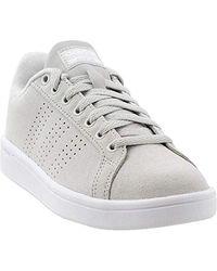 Adidas Gray Cloudfoam Advantage Cl Sneaker