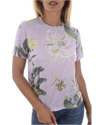 Tee Shirt Print Fleuri W82i26 Jeans Guess en coloris Multicolor