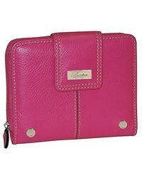 Buxton - Pink Westcott Tab Ziparound Wallet - Lyst
