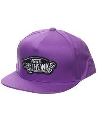 MN Classic Patch Snapback Cappellino da Baseball di Vans in Purple da Uomo
