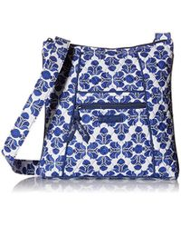 Vera Bradley Blue Signature Cotton Hipster Crossbody Purse