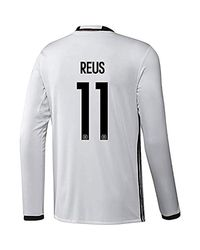 Adidas White Reus #11 Germany Home Soccer Jersey Euro 2016 Long Sleeve for men