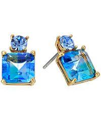 "Kate Spade Blue ""delicate Drop Earrings"" Flying Colors Delicate Drop Earrings"
