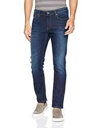 Tommy Hilfiger Blue Original Scanton Slim Fit Jeans, Dark Comfort, 34x32 for men