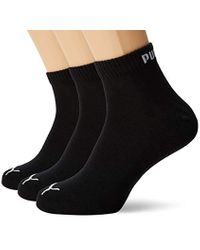 Quarter 3P, Calcetines cortos unisex PUMA de color Black