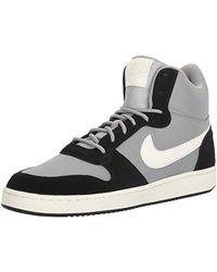 Nike Black Court Borough Mid Premium Basketball Shoes for men