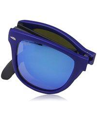 Ray-Ban Blue Rb4105 Folding Wayfarer Square Sunglasses for men