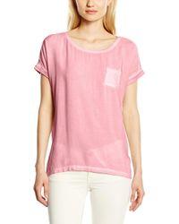 Im Materialmix Camiseta Esprit de color Pink
