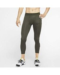 Nike Natural Pro 3/4 Tights Size M (cargo Khaki) for men