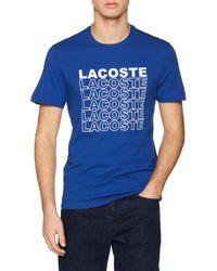 Th4237 Camiseta Lacoste de hombre de color Blue