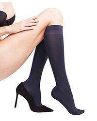 Leg Vitalizer 40 den, Calze al Ginocchio Donna, Blu (Marine 6179), 35/38 IT di Falke in Multicolor
