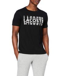 Th4804 Camiseta Lacoste de hombre de color Black