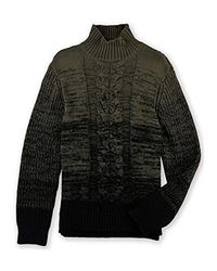 Calvin Klein - Black Jeans Ombre Cable Knit Turtle Neck Sweater for Men - Lyst