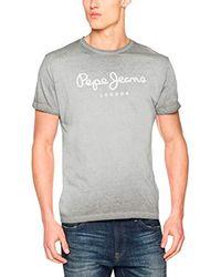 West Sir II PM503828, Camiseta para Hombre, Gris (Middle Grey 925), Medium Pepe Jeans de hombre de color Gray