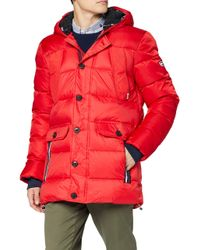 Tjm Mixed Fabric Jacket Giacca di Tommy Hilfiger in Red da Uomo