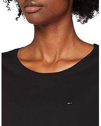 Donna Soft Jersey Vestaglia Maniche corte di Tommy Hilfiger in Black