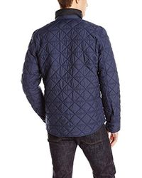 Victorinox - Blue Bernhold Quilted Over-shirt Jacket for Men - Lyst