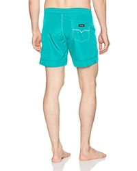 DIESEL Blue Wave Mohican Logo Swim Short for men