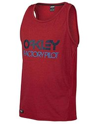 Oakley Red Tank Top Fp for men