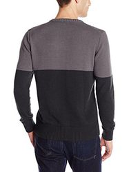 Dickies - Black Connor Color-block Fisherman Cable-knit Sweater for Men - Lyst