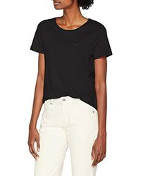 Donna SOFT JERSEY T-shirt Maniche corte Nero (Tommy Black 078) Large di Tommy Hilfiger