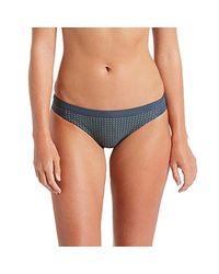 Nike Blue Swim Sport Mesh Bikini Bottoms