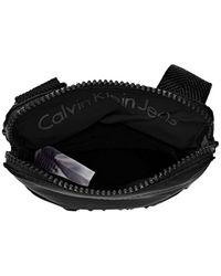 Calvin Klein Black Accessori Metro Mini Flat Crossover Shoulder Bags for men