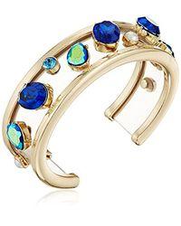 Betsey Johnson - Blue S Mixed Multicolored Stone Cuff Bracelet - Lyst