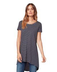 Tom Tailor Blue T-Shirts/Tops Gestreiftes T-Shirt Navy Rose Stripe Thin,S