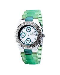 Reloj de Cuarzo 15056L6 Guess de color Green