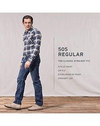 Levi's Blue 505 Regular Fit Jean, Rinse, 38x30 for men