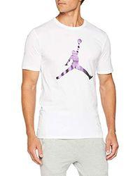 Nike Herren M Jsw Tee Iconic Jumpman T-Shirt in White für Herren