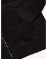 Pullover Zip-up Hoodie di True Religion in Black da Uomo